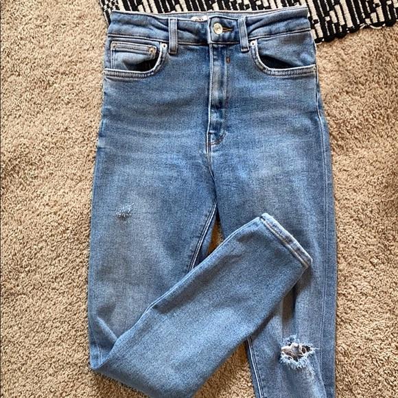 Zara high waisted skinny jeans